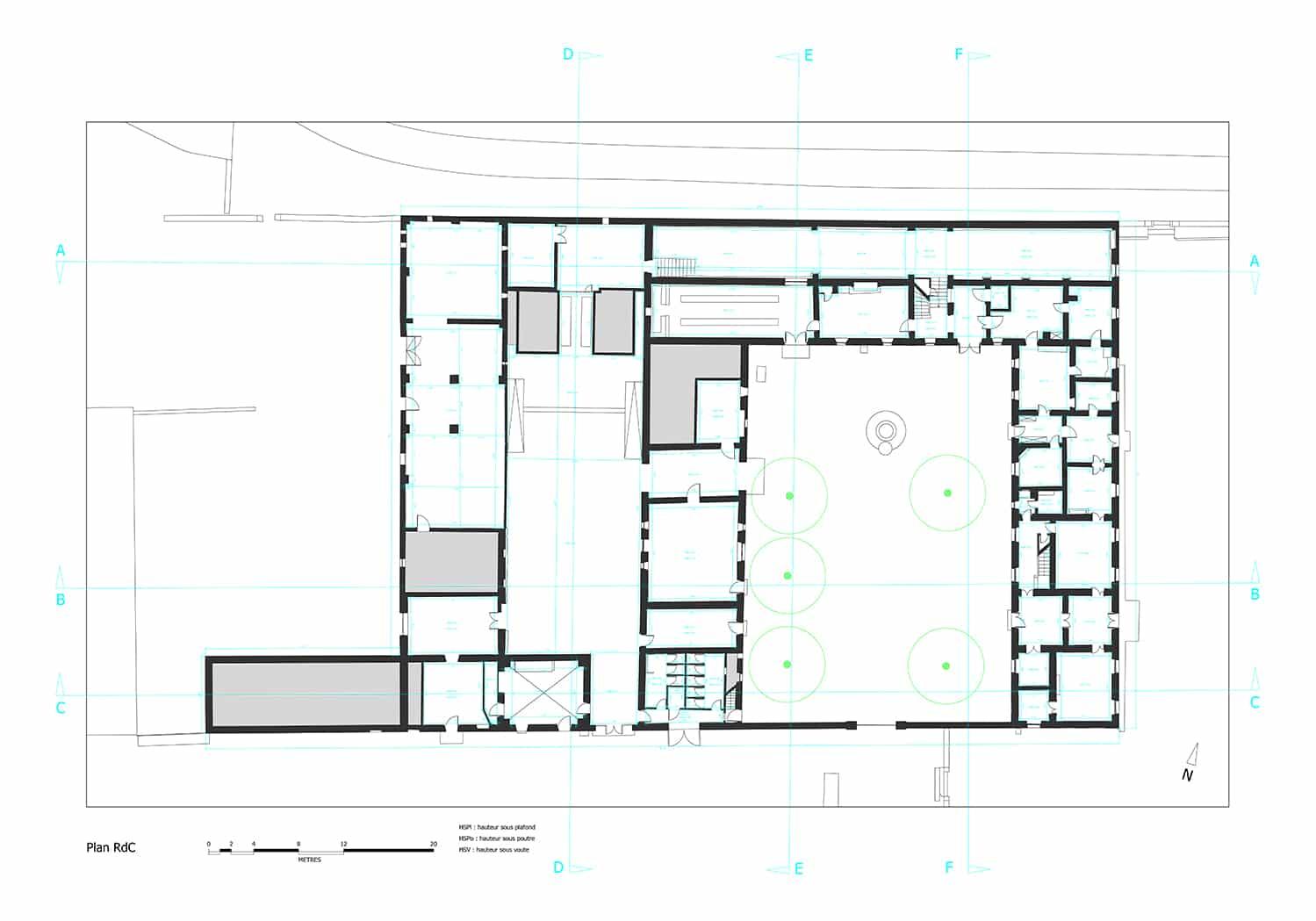 plan-dwg-autocad-chateau-clary
