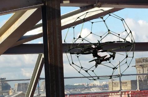 inspection technique milieu confine drone cage