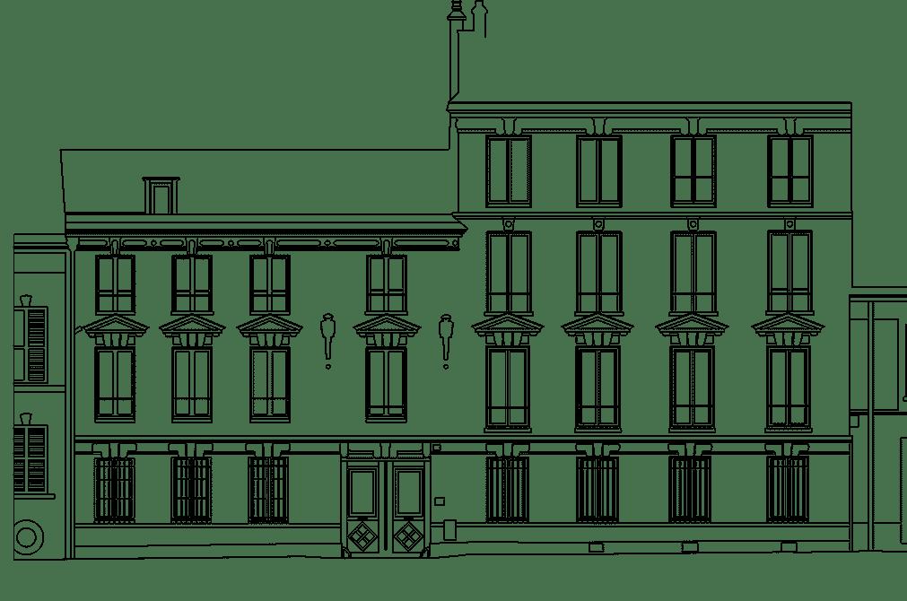 plan dwg autocad de facade