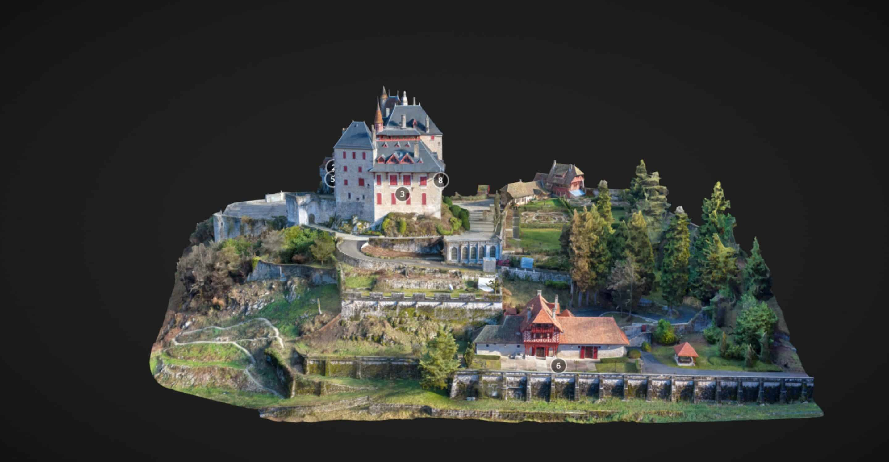 releve 3D drone chateau menthon scaled