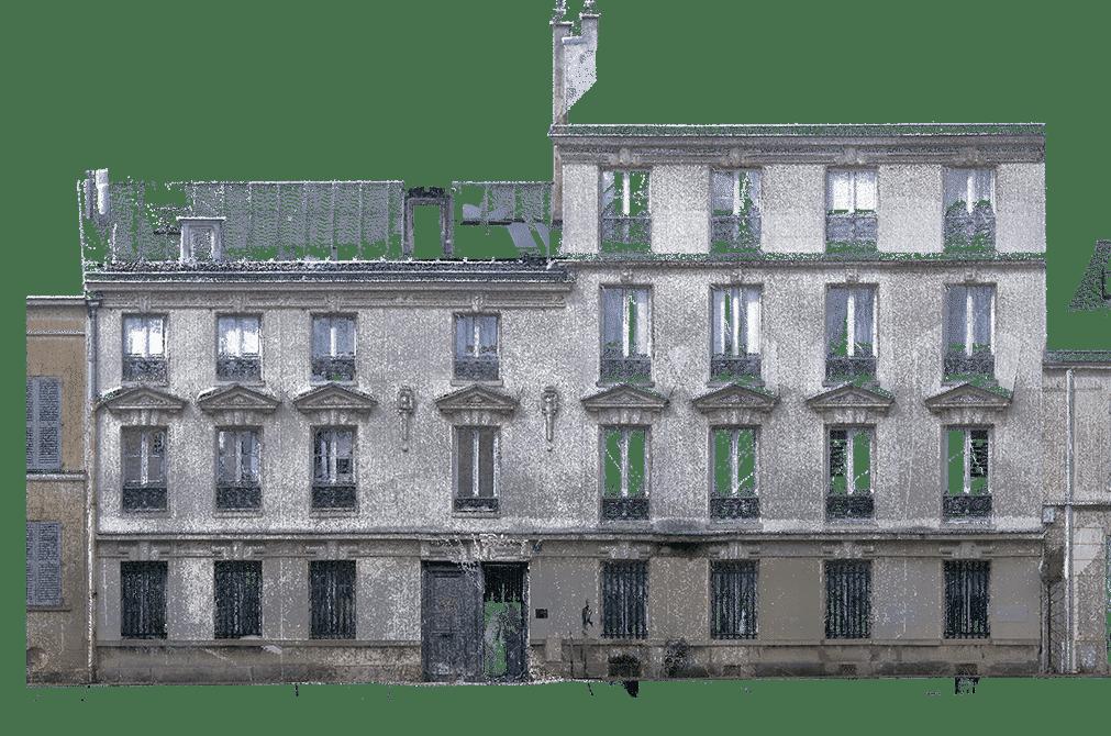 releve 3d laser facade pointcloud